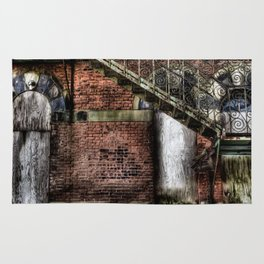 Hudson River State Hospital, 2007, Original Victorian Fire Escape Detail Rug