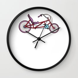 Recumbent Bike Gift Bicycle Trike Biker Wall Clock