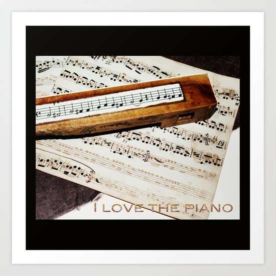 I love the piano Art Print
