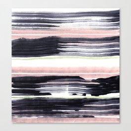 Black stripe Canvas Print