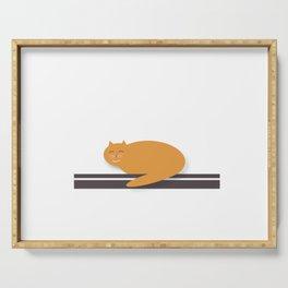 Happy Cat Nap Serving Tray
