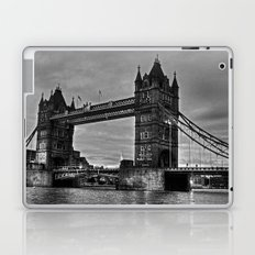 Tower bridge in black and white. Laptop & iPad Skin