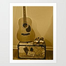 Traveling Musician  Art Print