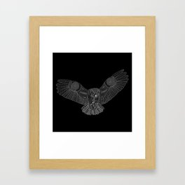 Coloring Book Owl Inverse Framed Art Print