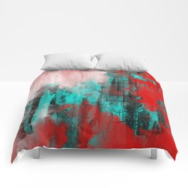 Intense Red And Blue Comforters