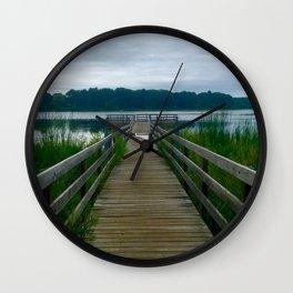 Bridge Under Water Wall Clock