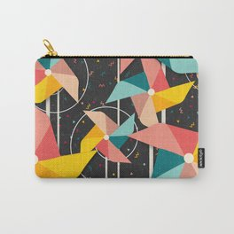 Colourful Pinwheels Carry-All Pouch