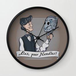 Alas Poor Handles! Wall Clock