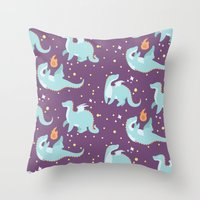 dragons Throw Pillows featuring Dragons! by Maddii Bach