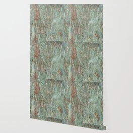 Sage and Rust Marble Wallpaper