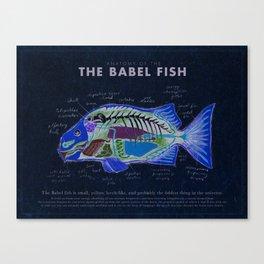 Babel Fish Anatomy Canvas Print