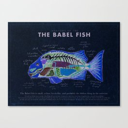 Babel Fish Anatomy Canvas Print
