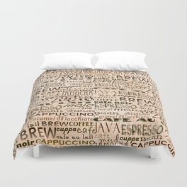 Coffee and Cream Duvet Cover