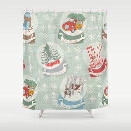 snow globes pattern Shower Curtain