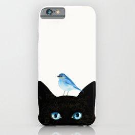Cat and Bird iPhone Case