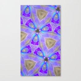 Ultra Violet Sacred Geometry Canvas Print