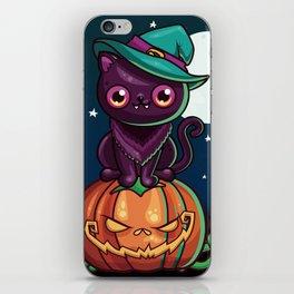 Ferociously Cute Halloween Vampire Witch Kitty Cat iPhone Skin