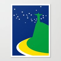 brazil Canvas Prints featuring BRAZIL by Marcus Wild