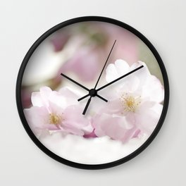 Delicate and fliligrane flowering of the almond tree Wall Clock