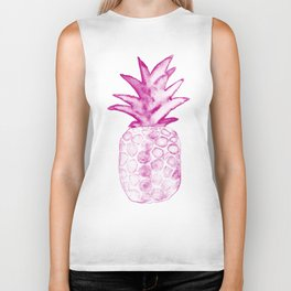 Pink Power Pineapple Biker Tank