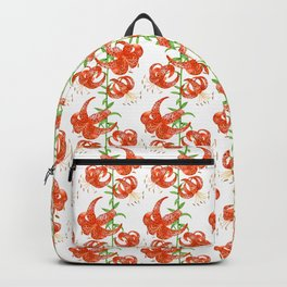 Tiger Lilies (White Background) Backpack