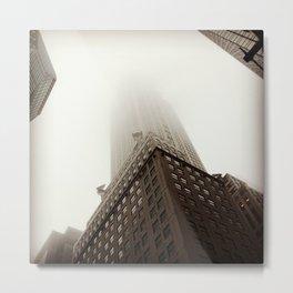 Foggy Chrysler Building Metal Print
