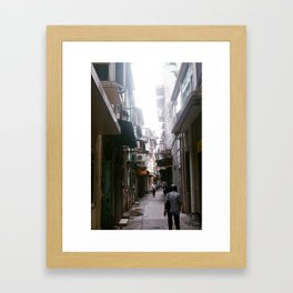 through the alley Framed Art Print