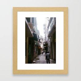 through the alley Framed Art Print