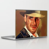 indiana Laptop & iPad Skins featuring Indiana by Katie Arts