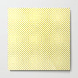 Blazing Yellow Polka Dots Metal Print
