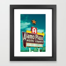 Alamo Motel Sign Dallas Texas Framed Art Print
