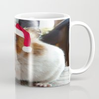 hamster Mugs featuring Christmas Hamster by VHS Photography