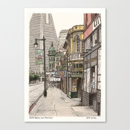North Beach, SF Canvas Print