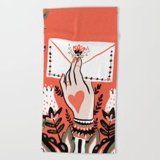 Love Letter Beach Towel
