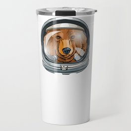 Spaced Out Astronaut Bear Outserspace Science Geek Travel Mug