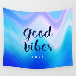 Good Vibes #homedecor #cool #positive Wall Tapestry