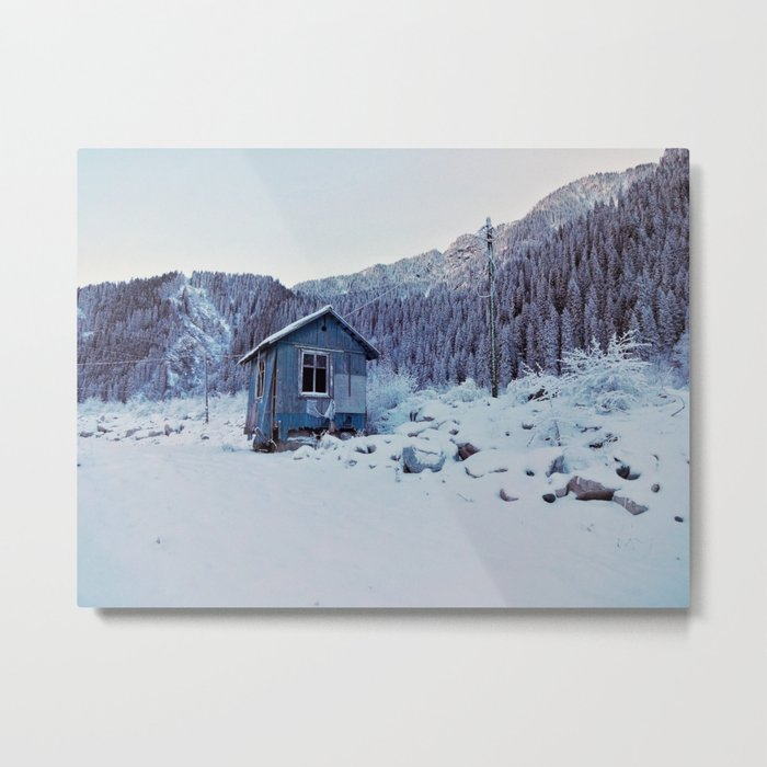 Small house in mountains Metal Print