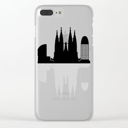 Barcelona skyline Clear iPhone Case