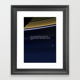 Pale Blue Dot - Cassini - Earth photo, HQ quality Framed Art Print