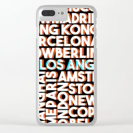 L.A. - City names typo graphic Clear iPhone Case