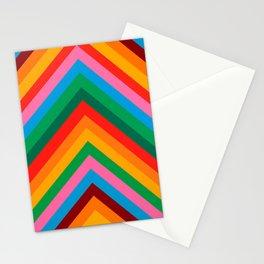 Colorful Rainbow Zig Zag Chevron                                                  Stationery Cards