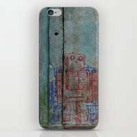 army iPhone & iPod Skins featuring Robot army by Ale Ibanez