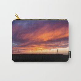 Sunset over Field Carry-All Pouch