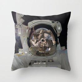 space selfie Throw Pillow