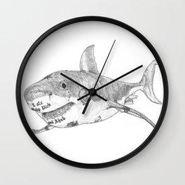 Shark Prank Wall Clock