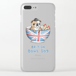 British Bowl Dog Clear iPhone Case