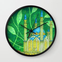 The Country Under The Leaves Wall Clock