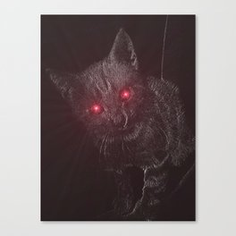 Bad Kitty! Canvas Print