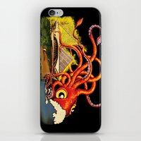 milwaukee iPhone & iPod Skins featuring MILWAUKEE: What's Kraken, Milwaukee? by Amanda Iglinski