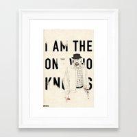 heisenberg Framed Art Prints featuring Heisenberg by keith p. rein